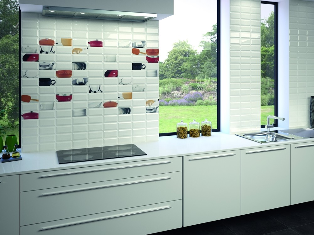 Metro Gloss White Bevelled 150 X 75