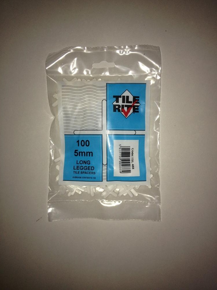 5mm Long Leg Tile Spacers Bag of 100