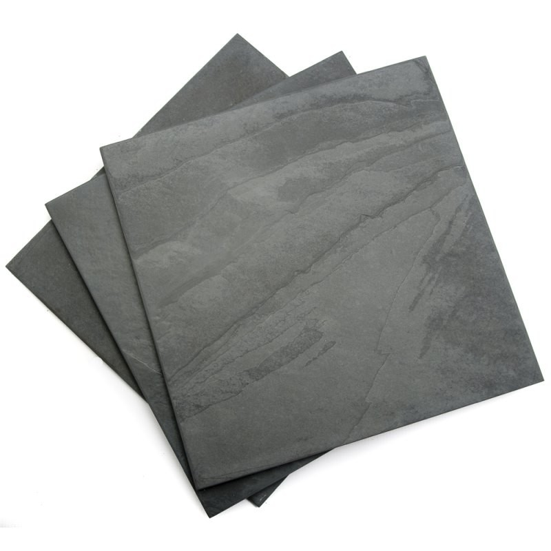 300 x 300 x 10mm Brazilian Black Brushed Antique Slate