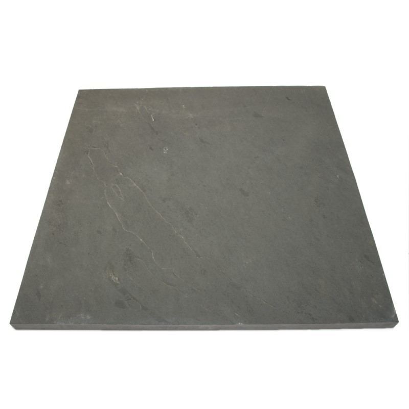 Brazilian Black Riven Slate Pavers