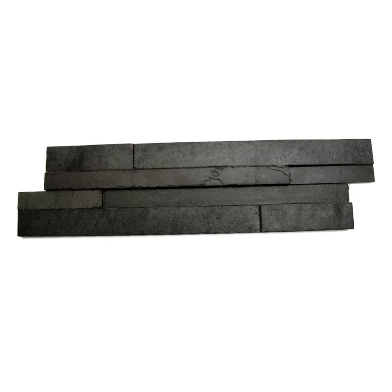 Brazilian Black Stepped Slate Panels 600 x 150 x 20mm