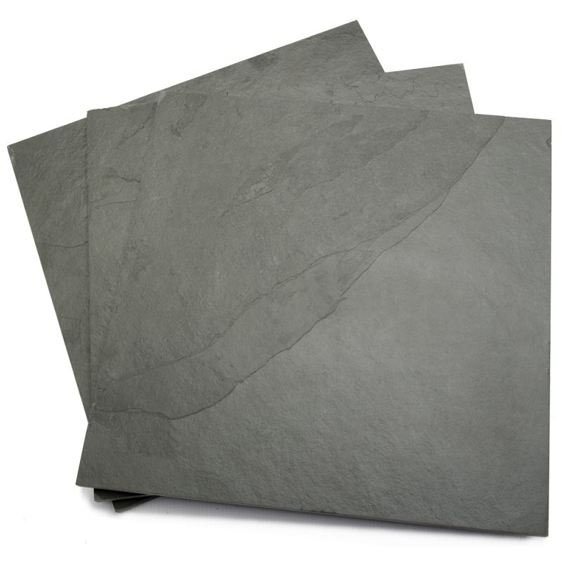 400 x 400 x 10mm Calibrated Brazilian Grey Riven Slate