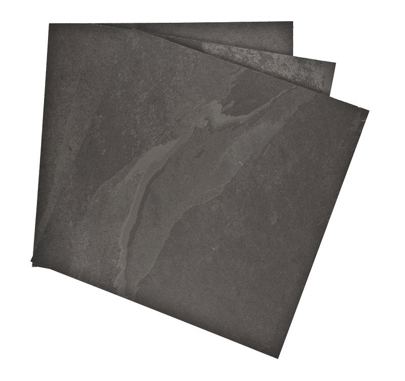 600 x 400 x 10mm Calibrated Brazilian Black Riven Slate