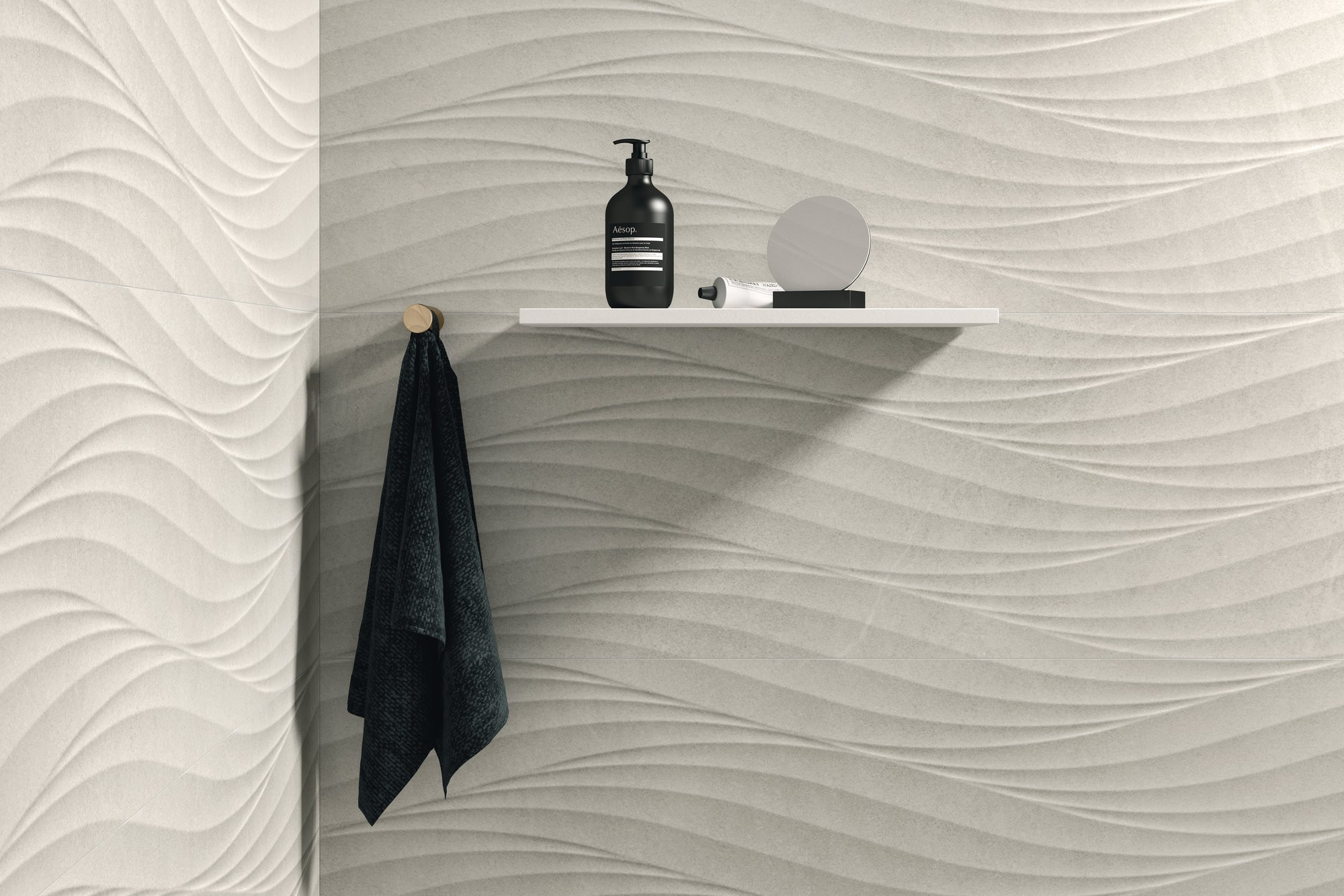 Nature White Wave Effect 320 x 900mm