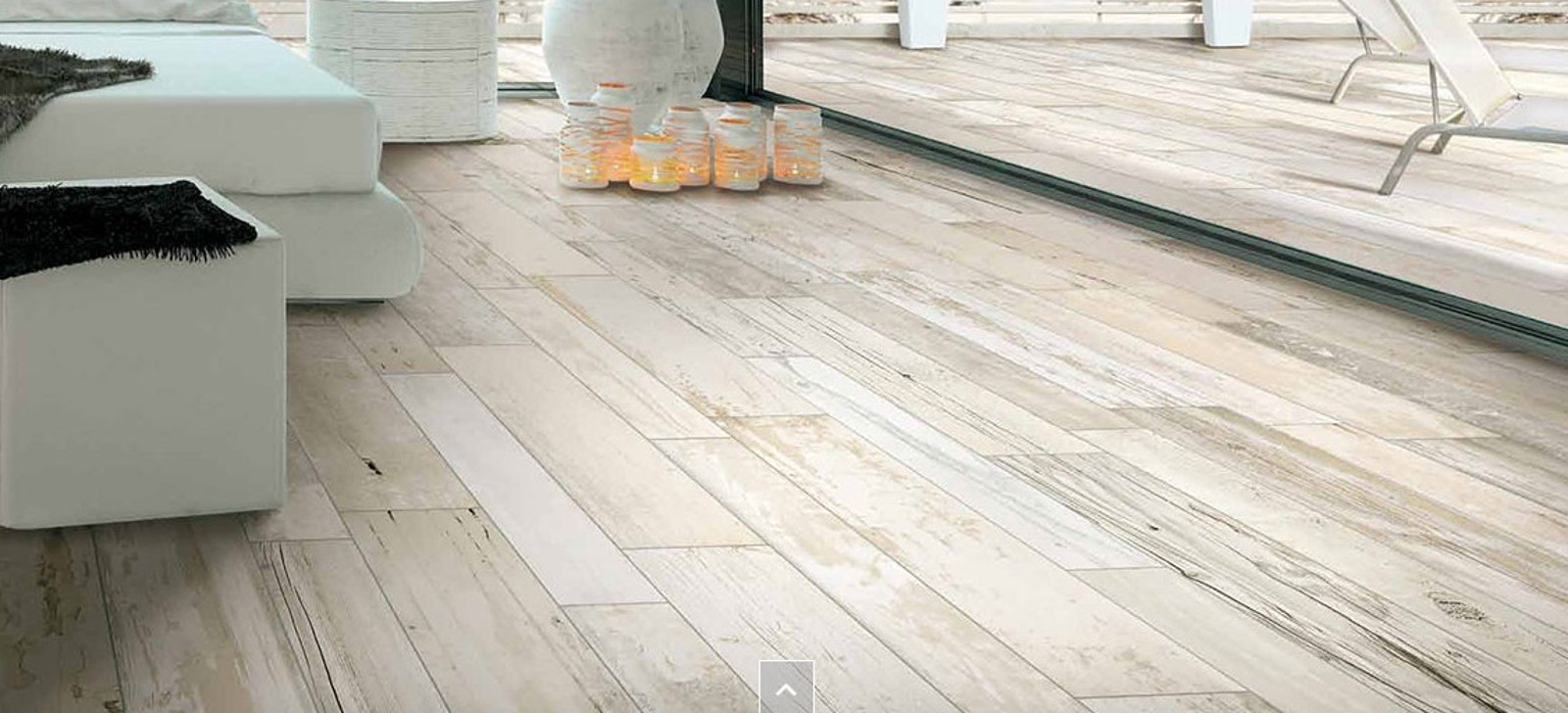 Expo Off White Distressed Wood Effect 130 X 790mm Kitchen Floor