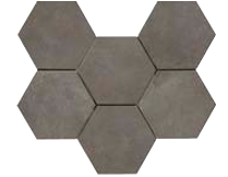 Rewind Hexagon Peltro 210 x 182mm