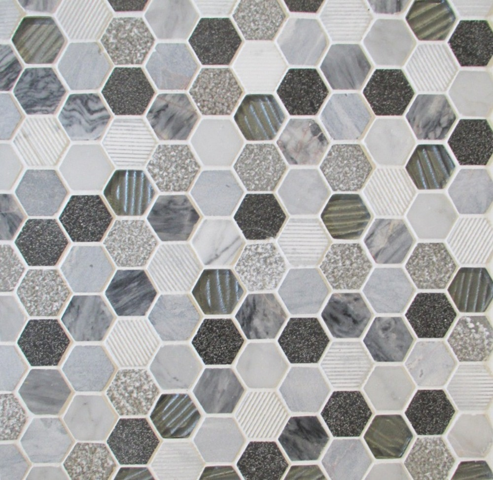 Inca Hex Earth Mosaic Sheet 300 x 300mm