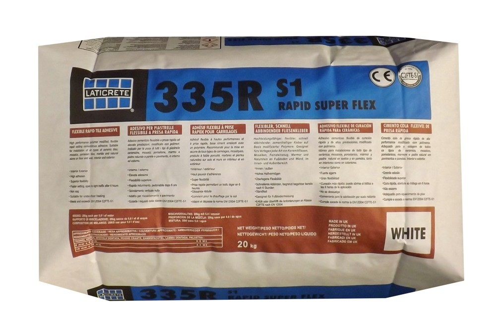 Laticrete 335R Superflex White Rapid Flexible Adhesive 20KG