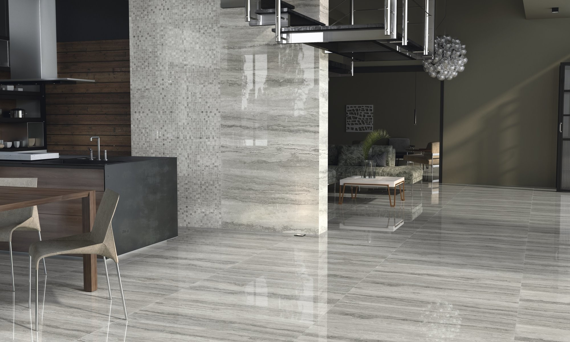 Levante Gris Polished Porcelain 450 x 1180mm