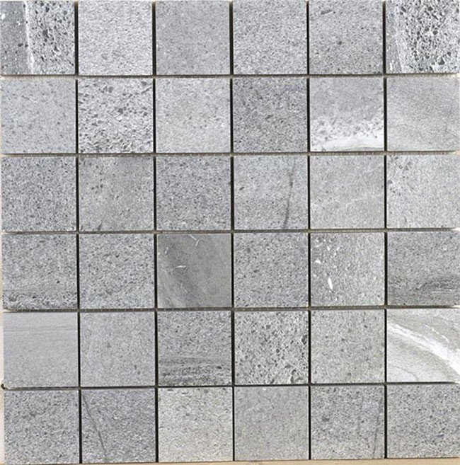 Velvet Gris Stone Effect Polished Mosaic Sheet 300 x 300mm