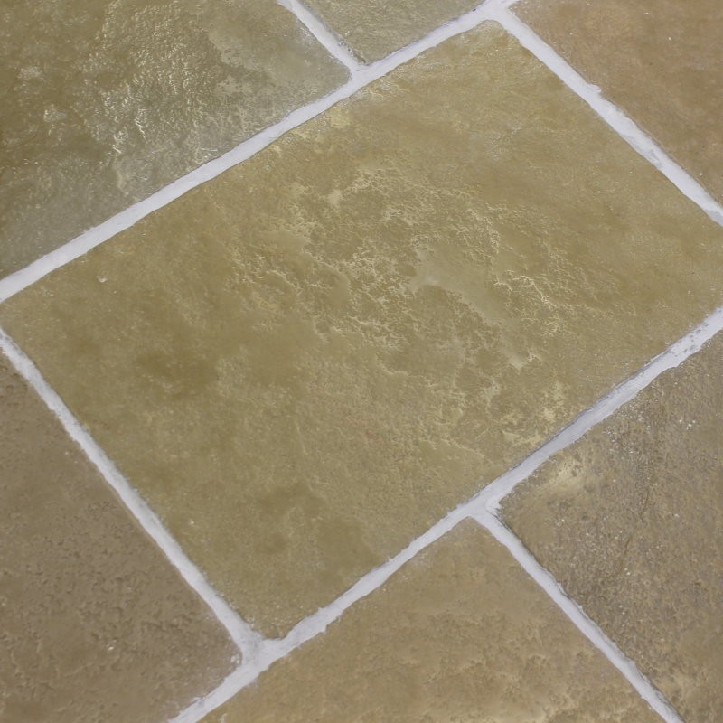 Heritage Flagstone Paver Olive Limestone Tiles 600 x 400 x 20mm