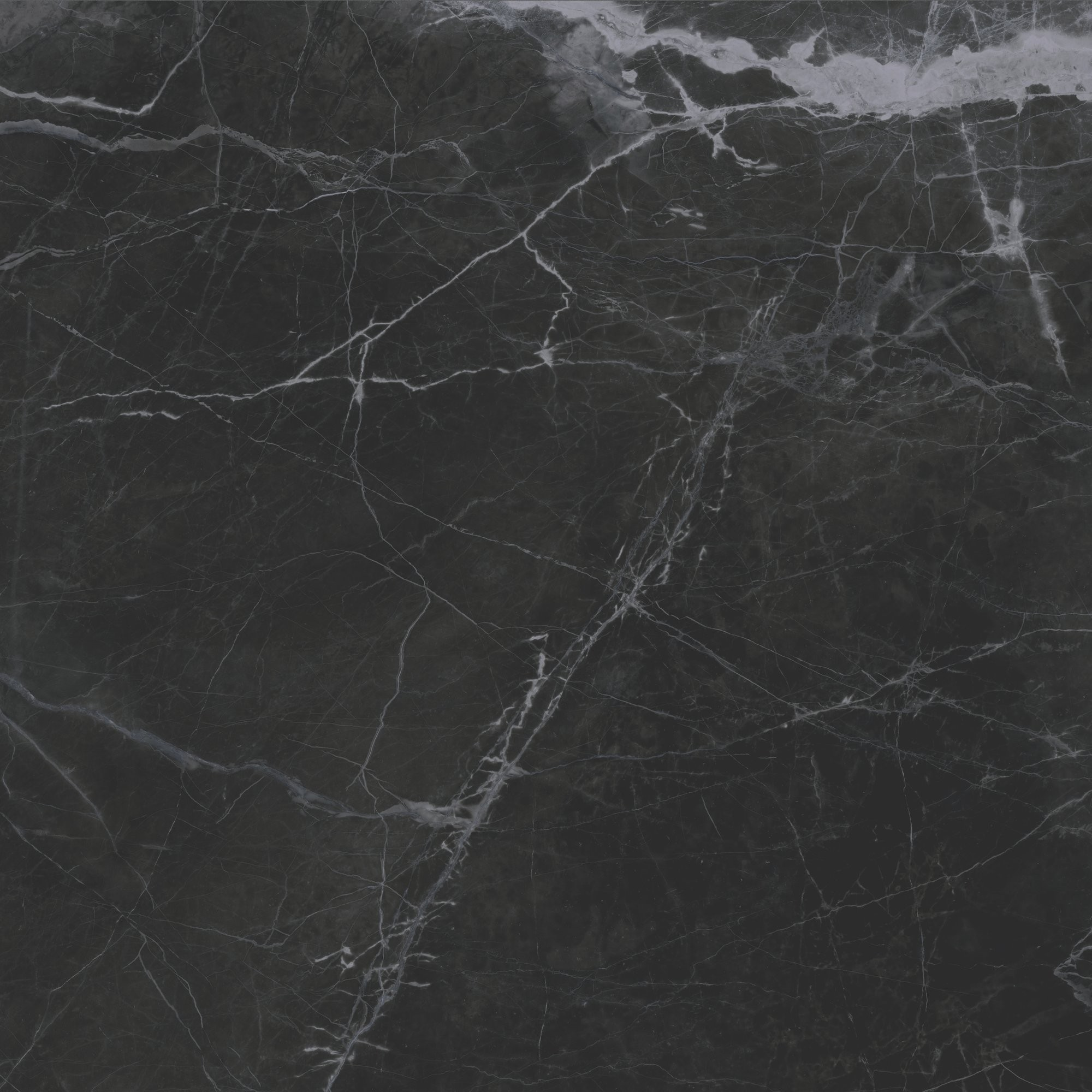 New Ice Black Polished Porcelain Marble Effect 900 x 900mm