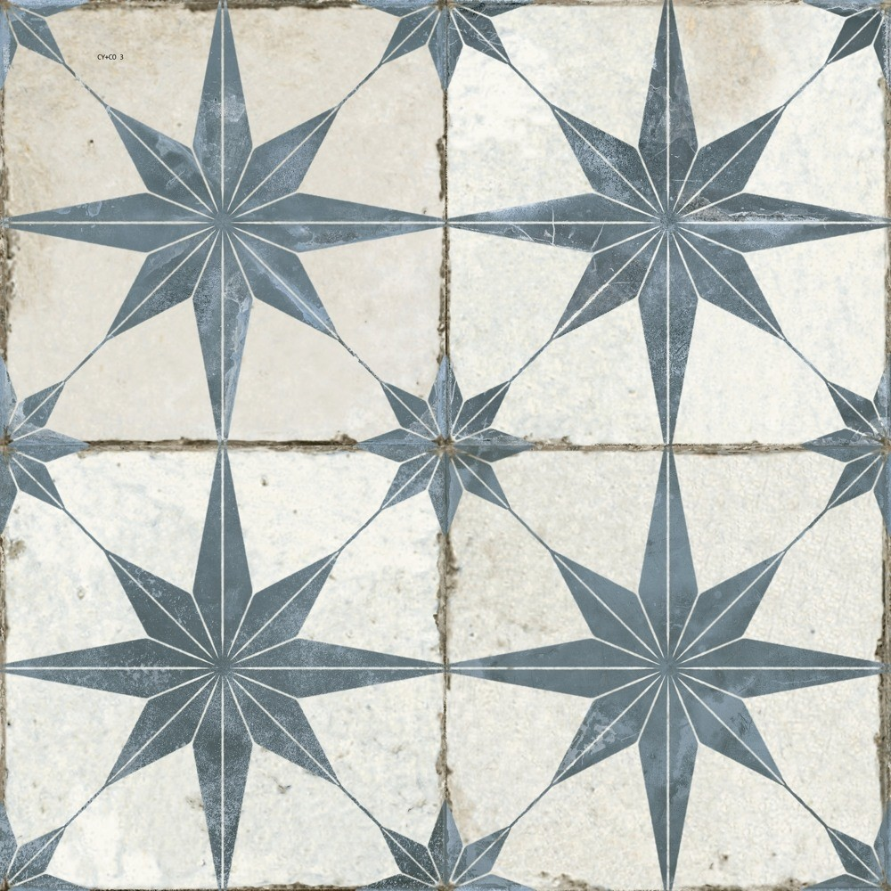 FS  Star Blue Patterned 450 x 450mm