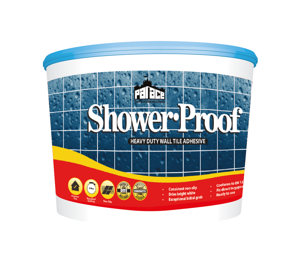Palace Showerproof Heavy Duty Wall Tile Adhesive 15Ltr