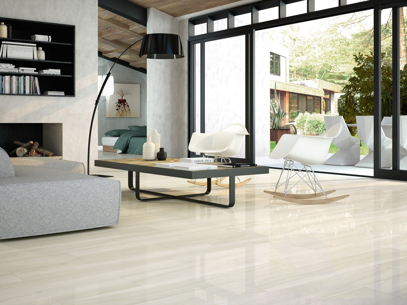 Wood Effect Porcelain Floor Tiles >> Time White Wood Effect Polished Porcelain 1200 X 200mm