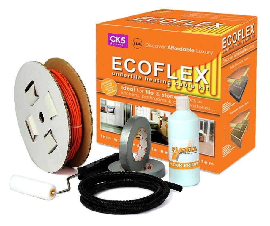 Loose Wire Underfloor Heating Kit. Covers 5.0 to 6.4 m2