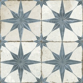 FS Heritage Star Blue Patterned 450 x 450mm